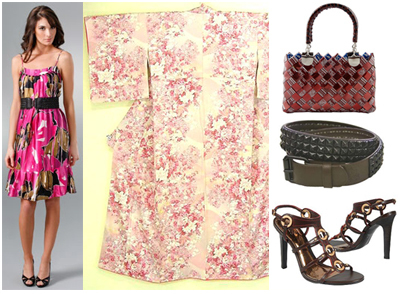 Sex and the City Movie Carrie Floral Vintage Dress Get the Look Fashion Accessories Vintage Kimonos