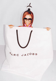 Victoria Beckham Marc Jacobs Ad Popping Out of Shopping Bag