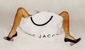 Victoria Beckham Marc Jacobs Ad Legs Shopping Bag