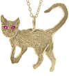 Eco Chic Cheeky Monkey Gold Wild Cat Pendant Eco Earth Friendly Jewellery Jewelry