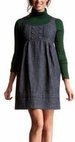 Cute dark denim jumper dress