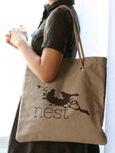 Nest eco tote green design fashion accessories for a good cause that gives back