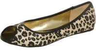 Leopard cheetah print peeptoe flats