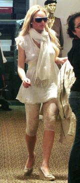 Lindsay lohan cream ivory white lace leggings fashion accessories