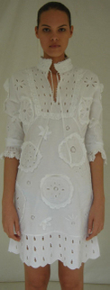 White lace eyelet mini dress spring fashion must have