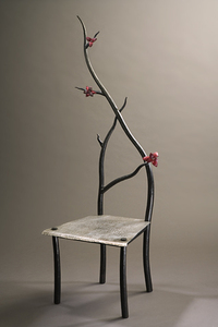 handmade handforged nature inspired furniture branches chair rachel tim miller