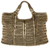 Anya Hindmarch Burnished Gold Metallic tote shopper Handbag Bag Purse