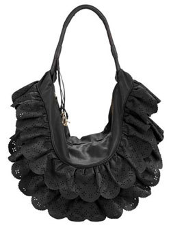 Dior black gipsy gypsy ruffles handbag bag purse fashion accessories