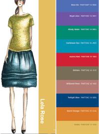 Pantone color report fall 2008 Lela Rose