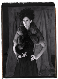 Steinunn gray grey fox fur shrug Mary Ellen Mark Photo Icelandic Iceland Fashion Design Designers