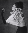 Steinunn ruffled knit capelet cape sweater Mary Ellen Mark Photo Icelandic Iceland Fashion Design Designers