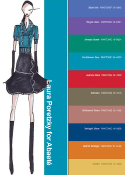 Abaete fall 2008 color palette fashion illustration
