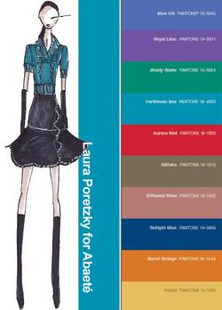 Abaete fall 2008 color palette fashion illustration