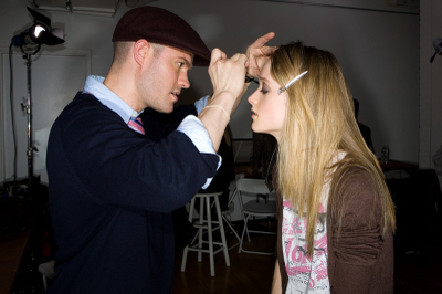 Eventide Fall 2008 makeup backstage Fashion Week Kevin Mendelson Jane Iredale