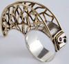 Handmade gold silver claw scaffolding ring