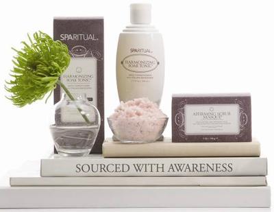 Spa ritual natural chakra lavender scrub skincare