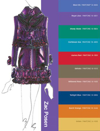 Fashion Week Pantone color Palette Report forecast fall 2008 Zac Posen fashion illustration