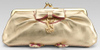 Gold metallic Juicy Couture clutch  metallic fashion accessories