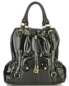 Iman black patent global chic handbag tote totebag purse bag affordable fashion accessories