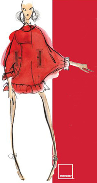Y & kei red dress fashion illustration fall 2008