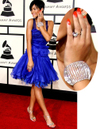 Rihanna diamonds blue zac posen dress grammys