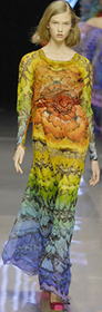 Tribal trend bright bold prints alexander mcqueen spring 2008