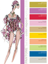 Fashion Week Pantone color Palette Report forecast spring 2008 Fashion Illustration