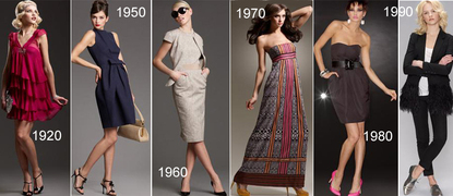 1920s 1950s 1960s 1970s 1980s 1990s Retro influenced fashion