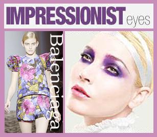 Impressionist Inspired makeup Balenciaga Floral Prints Spring 2008