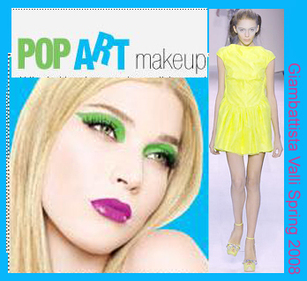 Pop art Inspired makeup Giambattista Valli Spring 2008