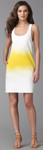 Diane von furstenberg dvf yellow dip dye resort dress shift