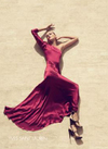 Ysl spring 2008 burgundy gown ankle length dress art of fashion camilla akrans