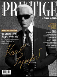 Karl lagerfeld magazine cover interview prestige hong kong
