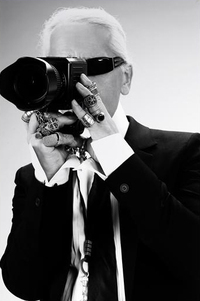 Karl lagerfeld photographer taking photographs self portrait