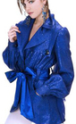 sexy French Cobalt blue trenchcoat indie fashion
