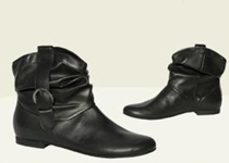 stylish vegan scrunchy biker boots