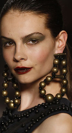 Giant accessories craftsy bead earrings spring 2008 lanvin