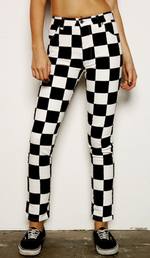 Ksubi black and white checkerboard skinny jeans_2