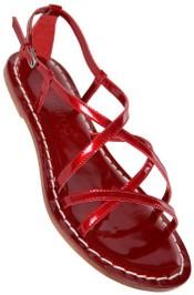 Red patent bernardo Mars summer sandal