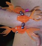 Chunky plastic goldfish bracelet