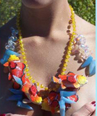 Chunky plastic clown fish necklace