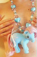 Chunky plastic pony horse necklace