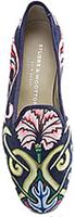 Stubbs wootton velvet floral pattern slipper