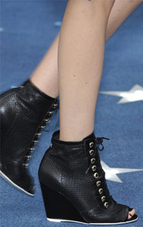 Chanel black peeptoe ankle bootie