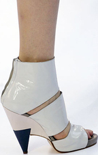 Chloe grey gray patent peeptoe strappy ankle bootie