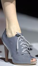 Dolce and gabbana gray grey peep toe ankle bootie