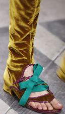 Prada peep toe velvet flat gladiator roman boot