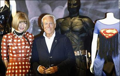 Superheroes Exhibit Met anna wintour giorgio Armani