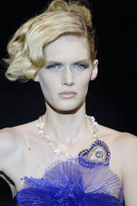 Armani prive Couture Runway Jewelry Jewellery Heart Motif Pendant Necklace Fashion Accessories