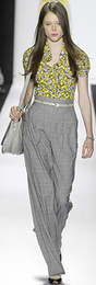 High waisted pants trousers spring 2008 badgley mischka